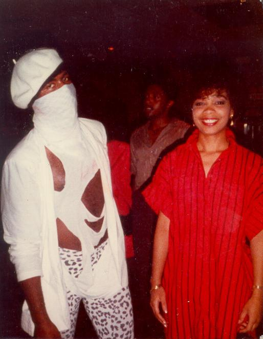 Me & my sis ''Faynel''   (after our show)   '85